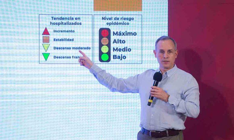 Repunta Covid 19 en México y apagan semáforo epidemiológico
