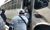 Negará transporte público servicio a ciudadanos que no porten cubrebocas