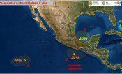 Lluvias en Veracruz y posible formación de ciclón en el Golfo de México
