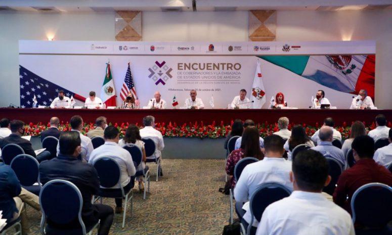 Promueve Cuitláhuac desarrollo del sureste mexicano ante EU